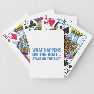 What Happens On The Boat…Stays On The Boat Bicycle Playing Cards