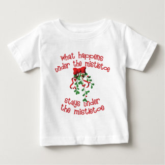 What Happens Under The Mistletoe Baby T-Shirt