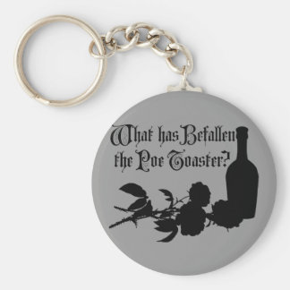 What Has Befallen The Poe Toaster Basic Round Button Key Ring