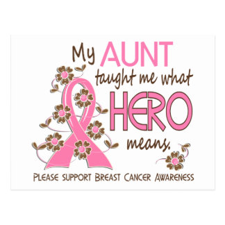 What Hero Means Breast Cancer Aunt Post Card