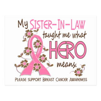 What Hero Means Breast Cancer Sister-In-Law Post Card