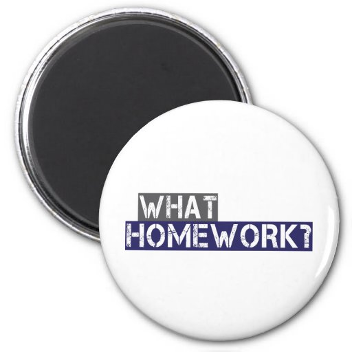 what homework? refrigerator magnets