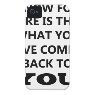 what i know is that what you give comes back to yo iPhone 4 cover