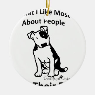 What I like most about people... Round Ceramic Decoration