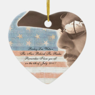 What I Love about America Ceramic Heart Decoration