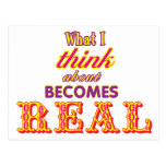What I Think About Becomes Real Postcard