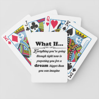 What if bicycle playing cards