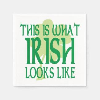 What Irish Looks Like Shamrock Disposable Serviette