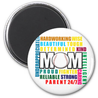 What is a Baseball Mom copy.png 6 Cm Round Magnet