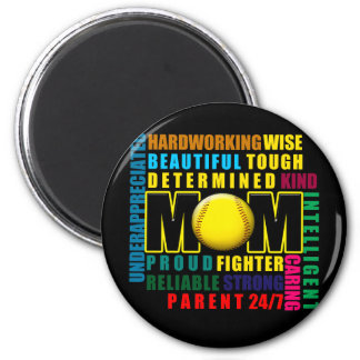 What is a Softball Mom copy.png 6 Cm Round Magnet