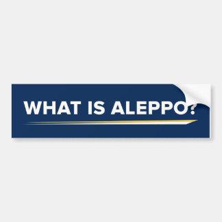 What is Aleppo Bumper Sticker