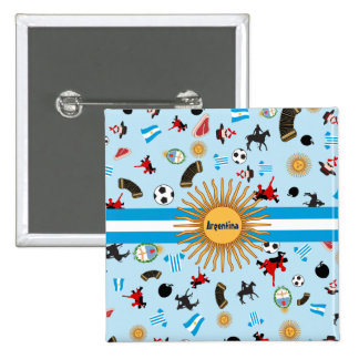 What is Argentina famous for? Discover it 15 Cm Square Badge