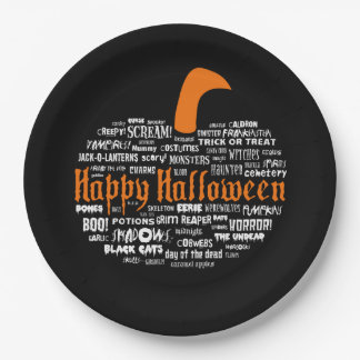 What Is Halloween? Halloween Party Paper Plates 9 Inch Paper Plate