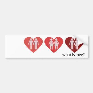 What is love? bumper sticker