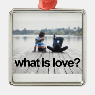 What is Love Square Metal Christmas Ornament