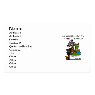 What is Retirement Humor Double-Sided Standard Business Cards (Pack Of 100)