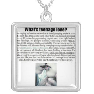 What is Teen love? Square Pendant Necklace