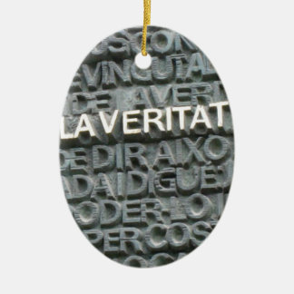 What is the Truth? - Que es la Vertat? Christmas Tree Ornaments