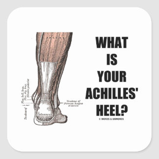 What Is Your Achilles' Heel? (Heel Anatomy) Square Sticker