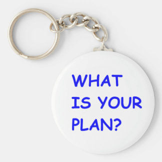 WHAT IS YOUR PLAN MOTIVATIONAL QUESTIONS COMMENTS KEYCHAIN