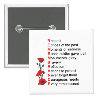 What It Means Remembrance Day Button