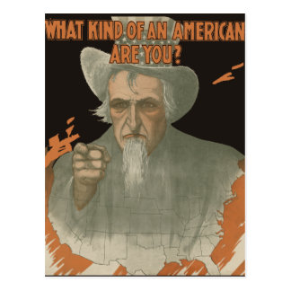 What Kind Of An American Are You? Postcards