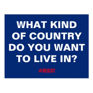 What Kind of Country Do You Want to Live In? Postcard