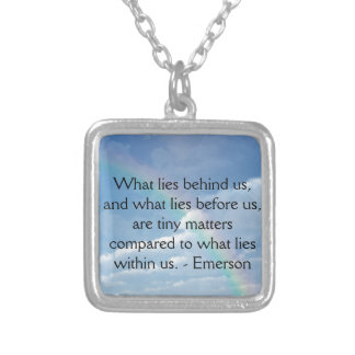 What Lies Before Us Silver Plated Necklace