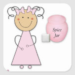 What little girls are made of -- Sugar and Spice Square Stickers