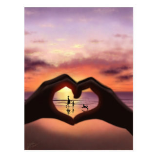What Love Means To Me Postcard