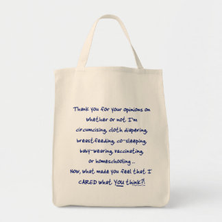 What made you think I cared? Grocery Tote Bag