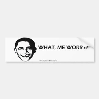 What, Me Worry?- Bumper Sticker