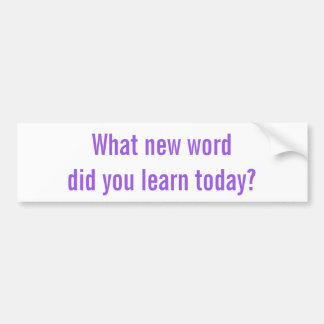 What new word did you learn today? Sticker