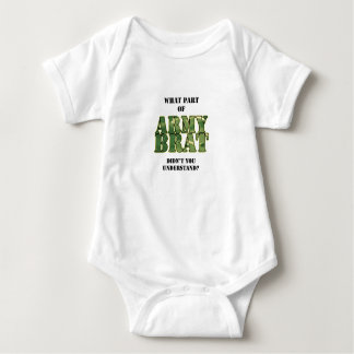 What Part of Army Brat Didn't You Understand? Baby Bodysuit