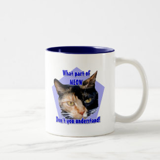 What part of meow! Calico cat mug