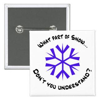What part of snow...? 15 cm square badge