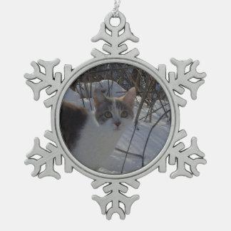 What? Pewter Snowflake Decoration