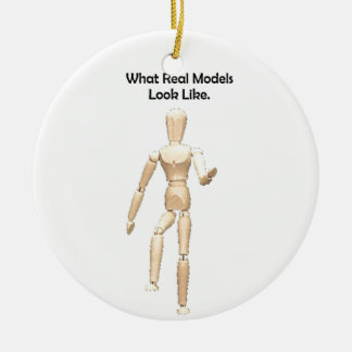 What Real Models Look Like Artist Mannequin Ceramic Ornament