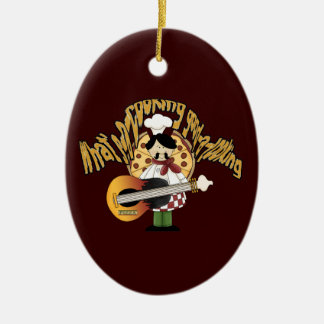 What's-a-cooking-good-a-looking Double-Sided Oval Ceramic Christmas Ornament