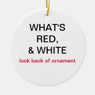 What s Red White Canada Flag Ornament
