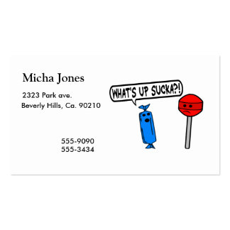 What s Up Sucka Business Card Templates