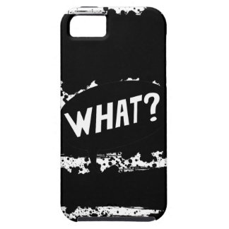 """What?"" splattered paint iPhone Case Case For The iPhone 5"