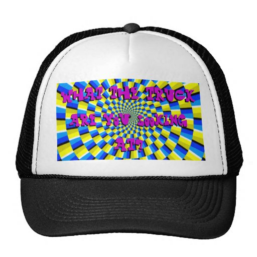 what the..? mesh hats