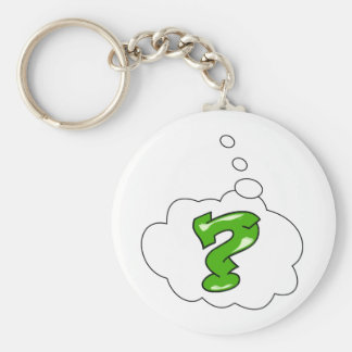 What The...? Basic Round Button Key Ring