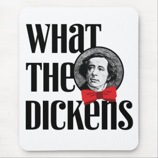 What the Dickens (Red Bow) Mouse Pad