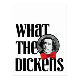 What the Dickens (Red Bow) Post Card