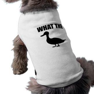 What The Duck Sleeveless Dog Shirt