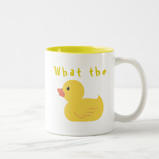 What the Duck? Two-Tone Coffee Mug