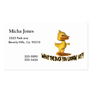 What The Duck You Lookin At Business Card Templates