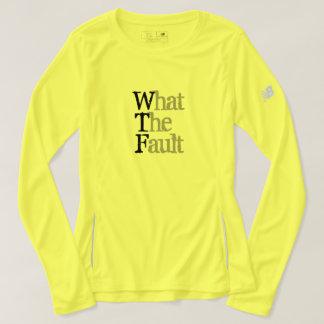 What the Fault Women's New Balance Long Sleeve T-Shirt